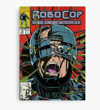Robocop Comic Canvas Print