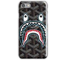 bape goyard black iPhone Case/Skin