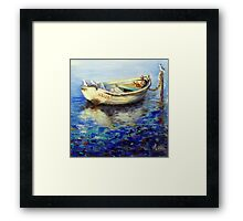 The lonely boat Framed Print