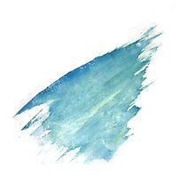 Water Strokes   Cobalt blue   Photographic Print