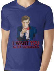 Doctor Who Uncle Sam Mens V-Neck T-Shirt
