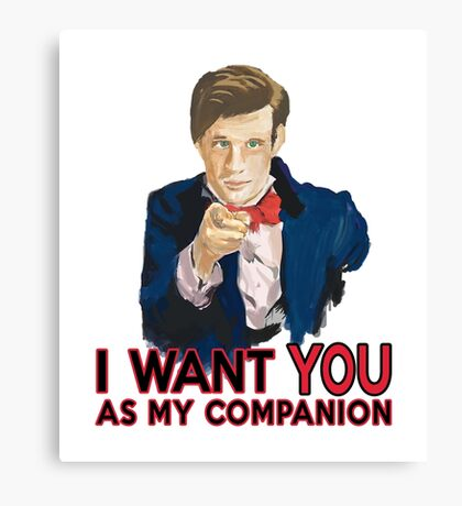 Doctor Who Uncle Sam Canvas Print