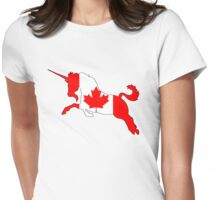Canada Unicorn Womens Fitted T-Shirt