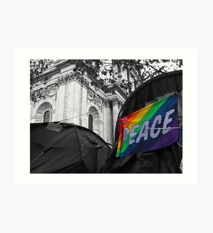 Rainbow Peace Flag Art Print
