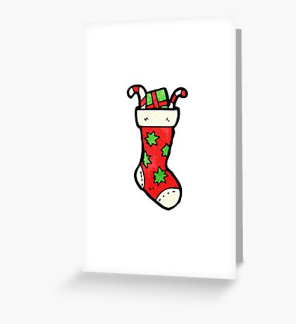 cartoon christmas stockings Greeting Card