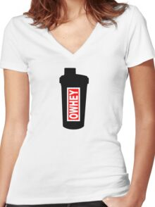 OWHEY Gym  Women's Fitted V-Neck T-Shirt