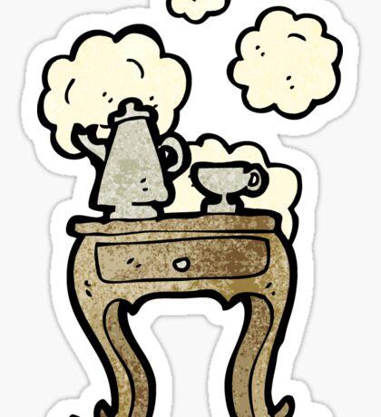 cartoon bedside table Sticker