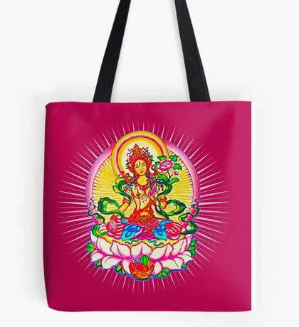 Tara - Tibet Buddhism, Lotus, Meditation, Yoga, Om Tote Bag
