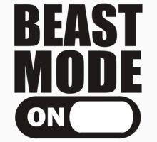 Beast Mode ON Black by ZyzzShirts