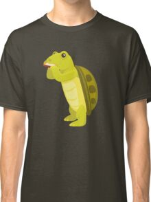 Cute turtle playing music with harmonica Classic T-Shirt
