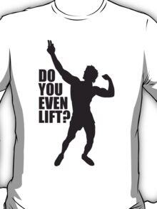 Zyzz Do you Even Lift Black T-Shirt