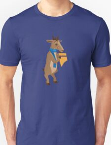 Cartoon goat playing music with panpipe T-Shirt