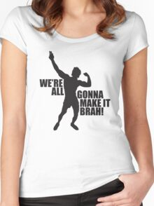 Zyzz We Are All Gonna Make It Brah Black Women's Fitted Scoop T-Shirt