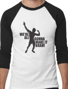 Zyzz We Are All Gonna Make It Brah Black Men's Baseball ¾ T-Shirt