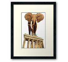 space elephant Framed Print