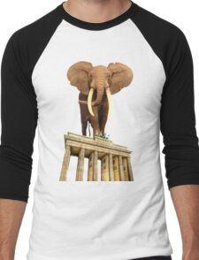 space elephant Men's Baseball ¾ T-Shirt