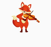 Funny fox playing music with violin T-Shirt