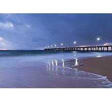 Port Noarlunga Jetty Lights Photographic Print