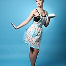Pin Up with cream cake by Peter Stone