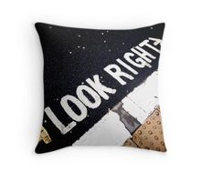Look Right Throw Pillow