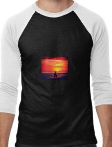 Horseback Riding At Sunset Men's Baseball ¾ T-Shirt