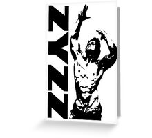Zyzz Pose Exclusive Portrait Greeting Card
