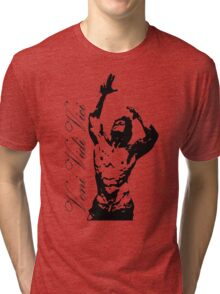 Zyzz Pose Exclusive Portrait Veni, Vidi, Vici Tri-blend T-Shirt