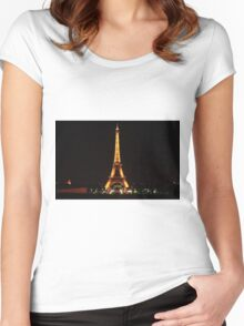 Eiffel Tower at Night. Women's Fitted Scoop T-Shirt