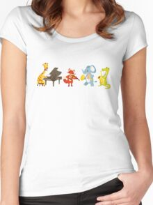 Animal band playing music Women's Fitted Scoop T-Shirt