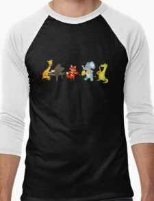 Animal band playing music Men's Baseball ¾ T-Shirt