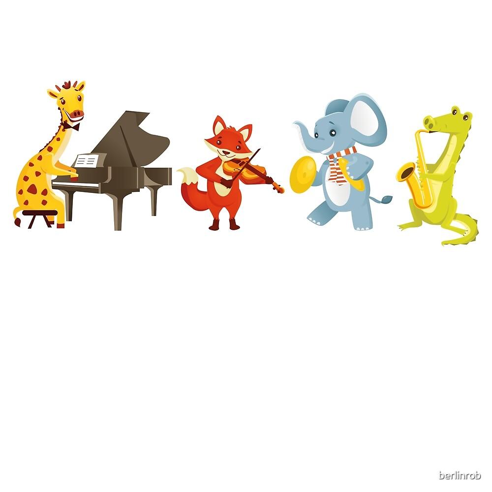 Animal band playing music by berlinrob
