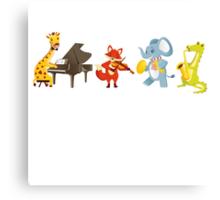 Animal band playing music Canvas Print