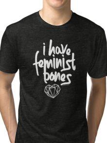 """I Have Feminist Bones"" -Gillian Anderson Tri-blend T-Shirt"