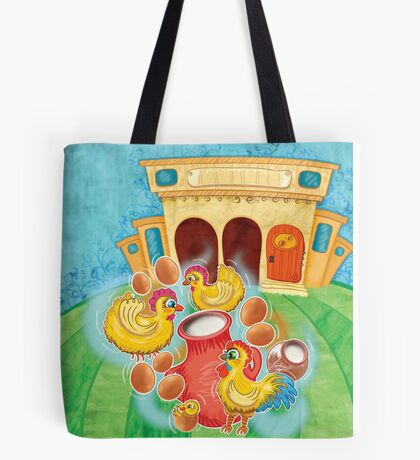 The Milkmaid Collection - Illustration Nr. 1 - farm animals Tote Bag