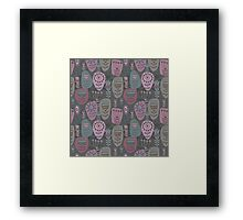 Decoration with abstract flower Framed Print