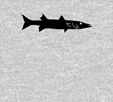 Barracuda Fish Silhouette (Black) Unisex T-Shirt