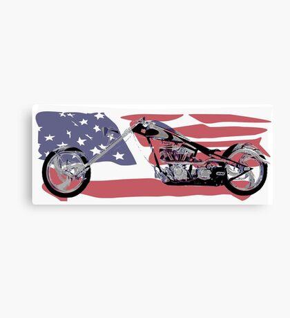 Chopper USA Canvas Print