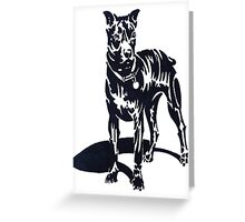 PIT BULL PUPPY (Graffiti) Greeting Card