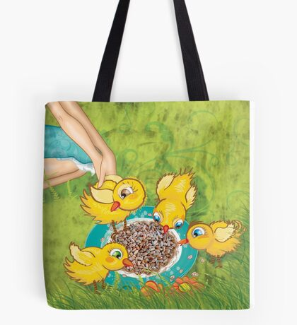 The Milkmaid Collection - Illustration Nr. 2 - farm animals Tote Bag
