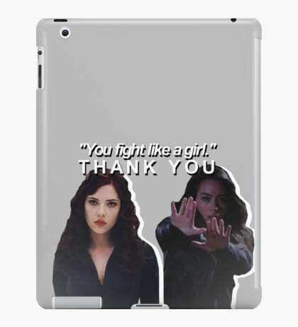 marvel females you fight like a girl iPad Case/Skin