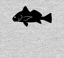 Black Drum Fish Silhouette (Black) Unisex T-Shirt