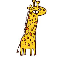 Funny cartoon giraffe by berlinrob