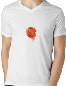 Water Strokes |  Bloody Red | Mens V-Neck T-Shirt