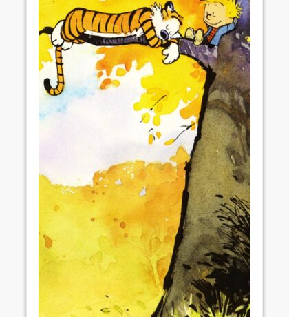 Calvin and Hobbes Lazy Sunday's Sticker