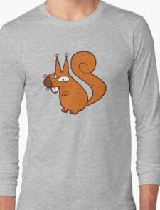Cute cartoon squirrel Long Sleeve T-Shirt