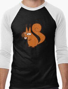 Cute cartoon squirrel Men's Baseball ¾ T-Shirt
