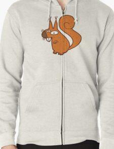 Cute cartoon squirrel Zipped Hoodie