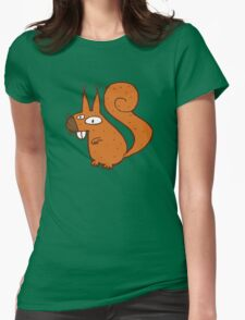 Cute cartoon squirrel Womens Fitted T-Shirt