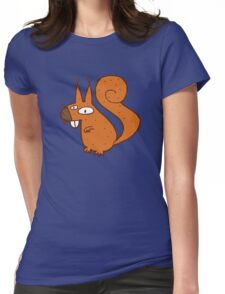 Cute cartoon squirrel Womens Fitted T-Shirt