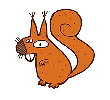Cute cartoon squirrel Photographic Print
